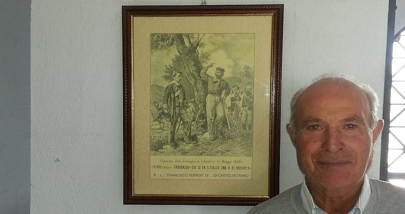 The caretaker of the Garibaldi monument
