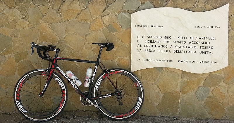 My Ridley Helium SL near Garibaldi Monument