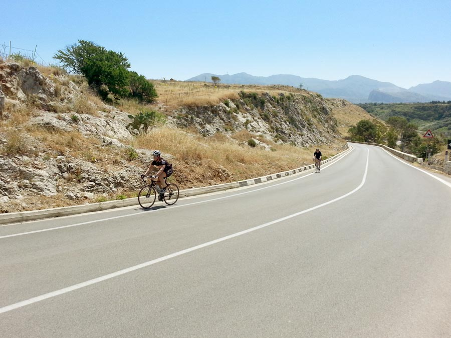 On the first climb