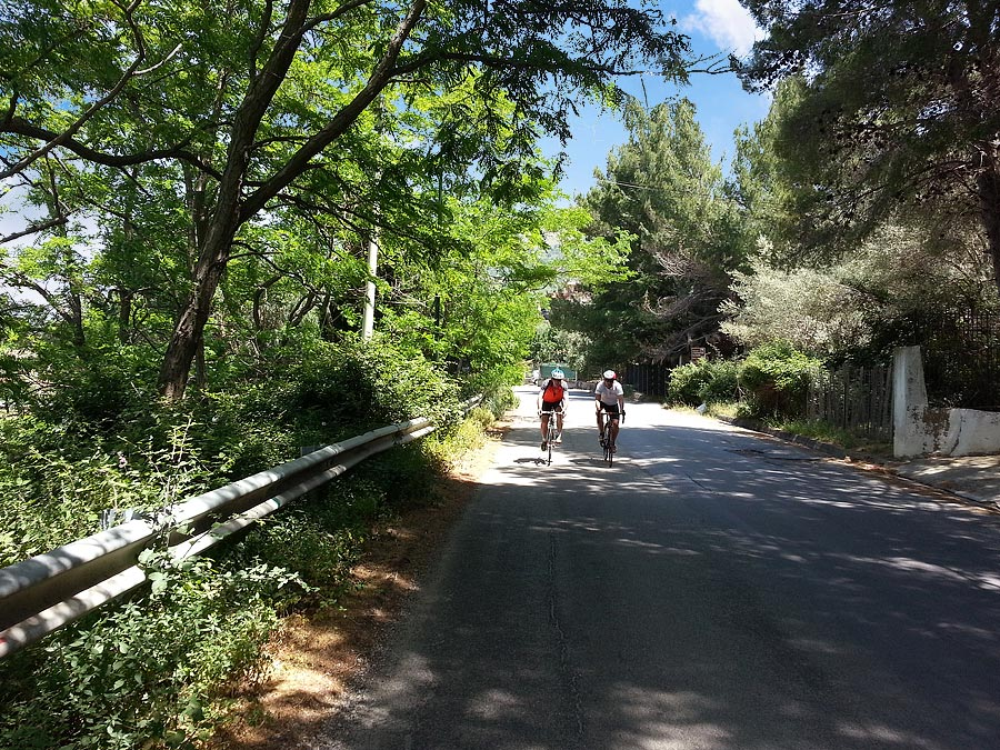On the climb near Carini