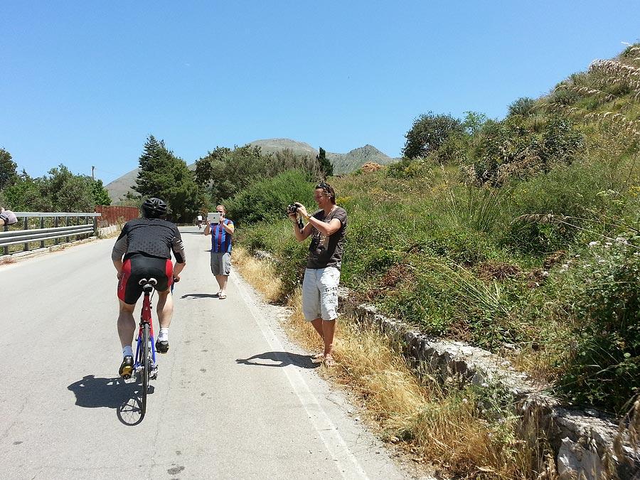 Moral support on the Carini climb