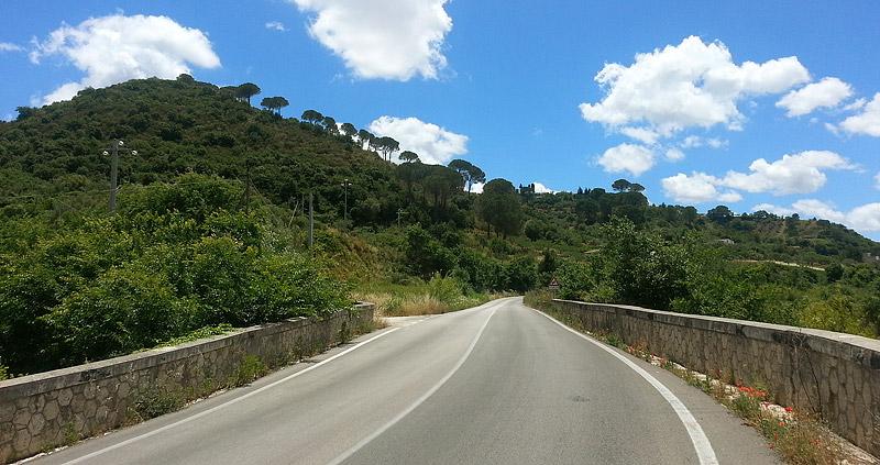 The road to the town of Calatafimi