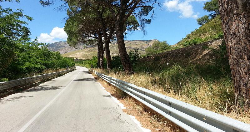 Near Segesta in the direction of Castellammare del Golfo
