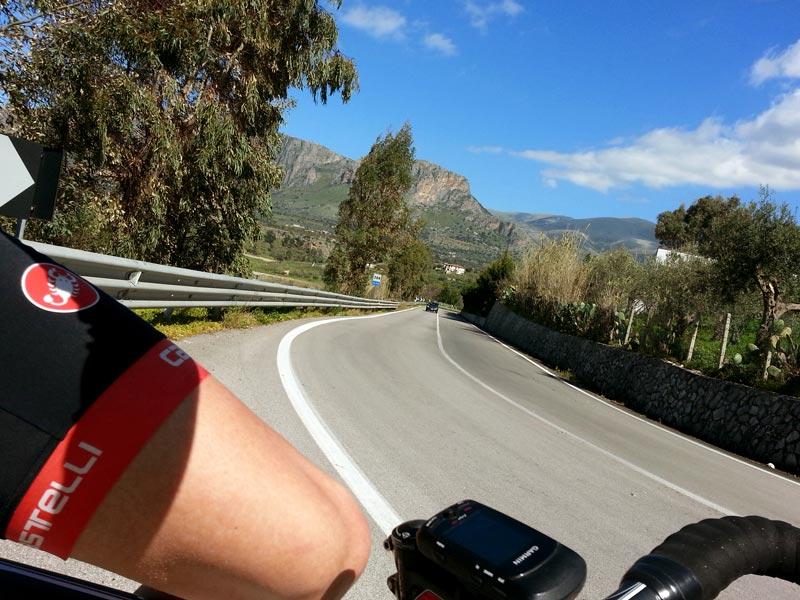 A short climb near Trappeto