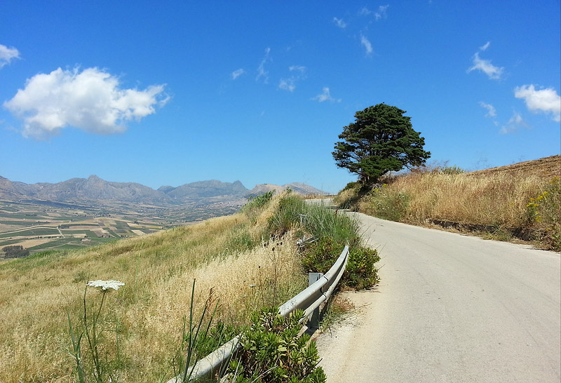 On the climb to Grisì