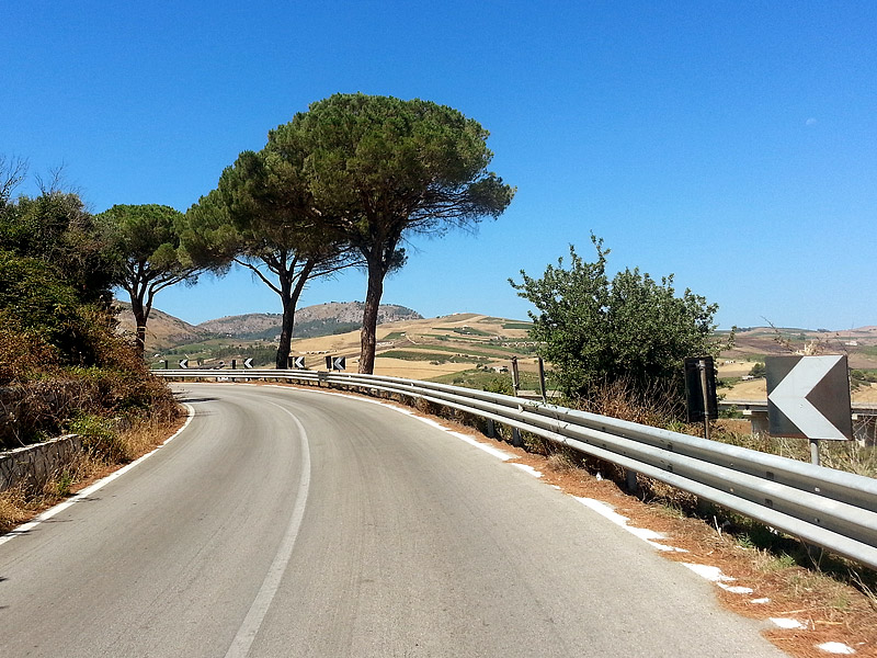 On our way to Segesta, Sicily