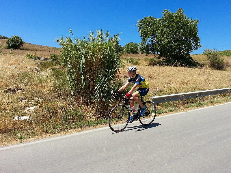 Eddie on the descent near Segesta