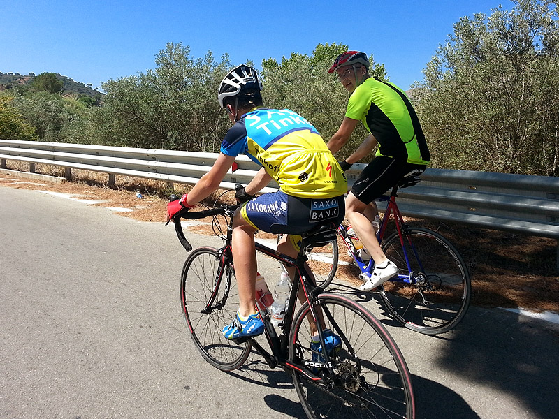 Dominic and Eddie near Segesta, Sicily