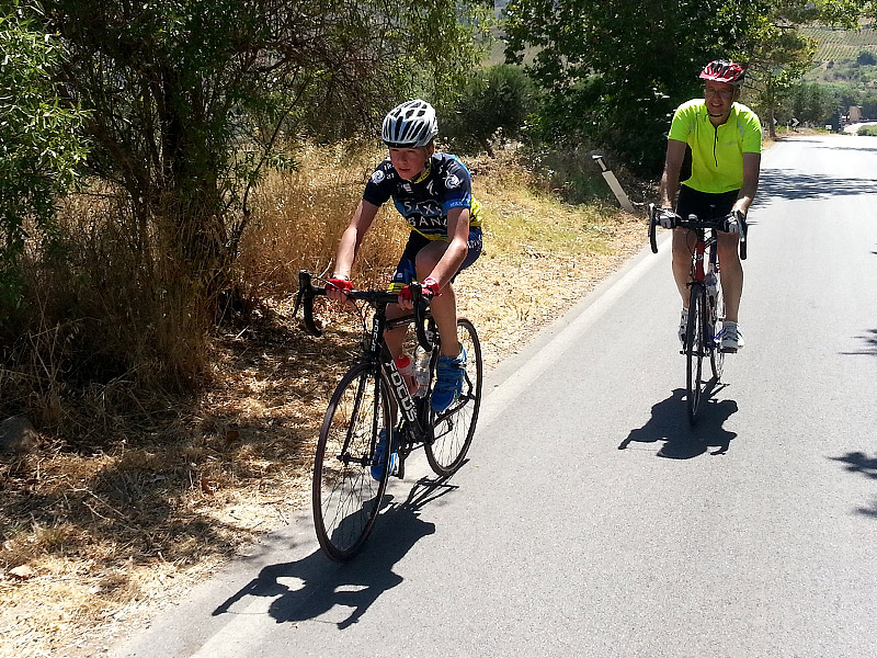 Dominic and Eddie on the Segesta climb