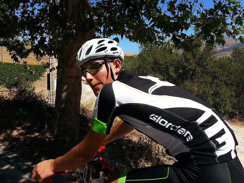 Aronne on the Segesta climb