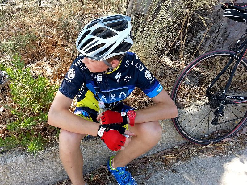 Eddie taking a break near the temple of Segesta