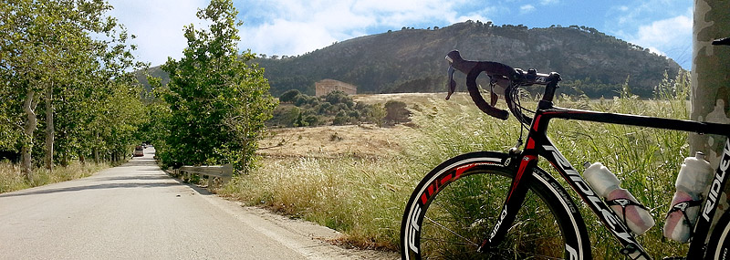 My Ridley Helium SL near the temple of Segesta