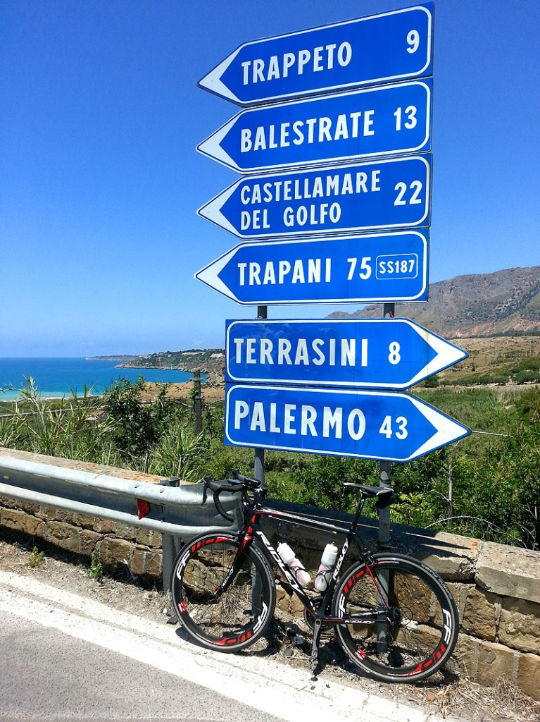 Riding in sunny Sicily