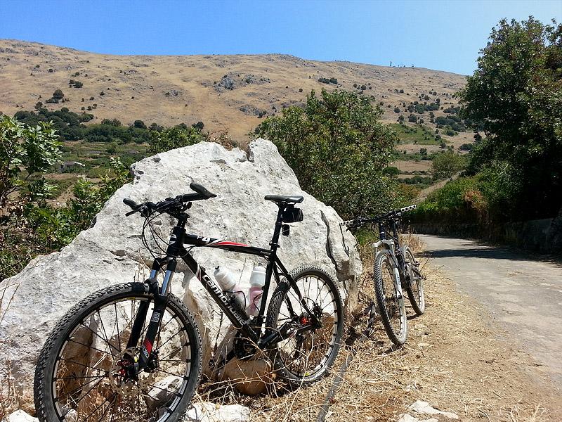 Our mountain bikes in the mountains near Piano Margi