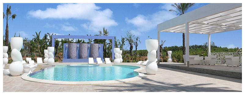 The swimming pool in the Borgo delle Olive