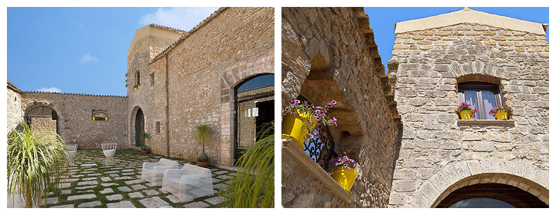 The borgo's courtyard