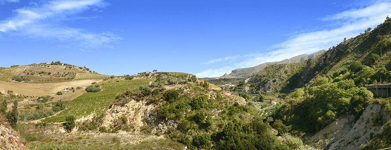 The area near the town of Balata di Baida