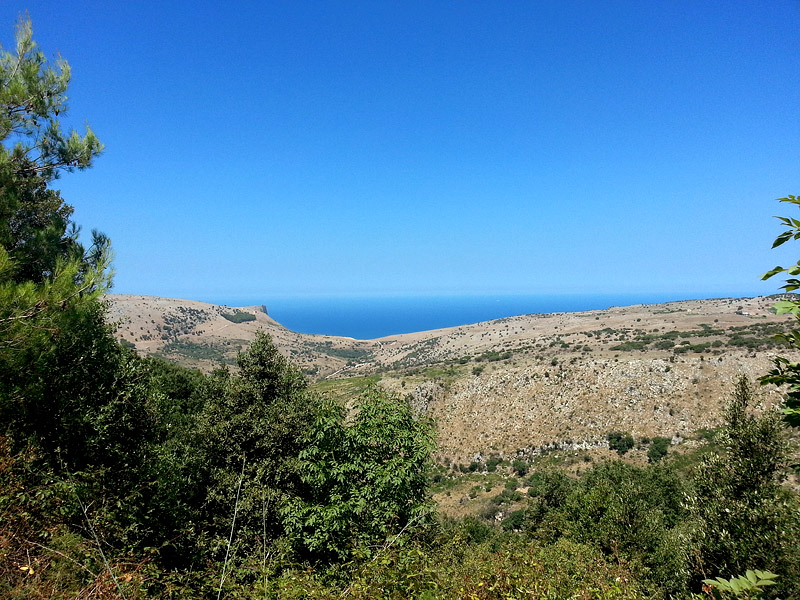 View from the wood on the top of the climb near Piano Margi