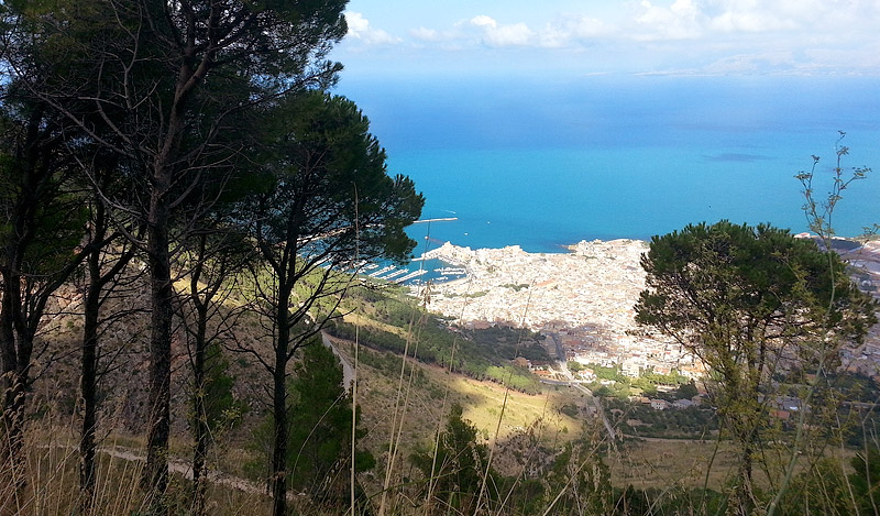 A view of Castellammare del Golfo.