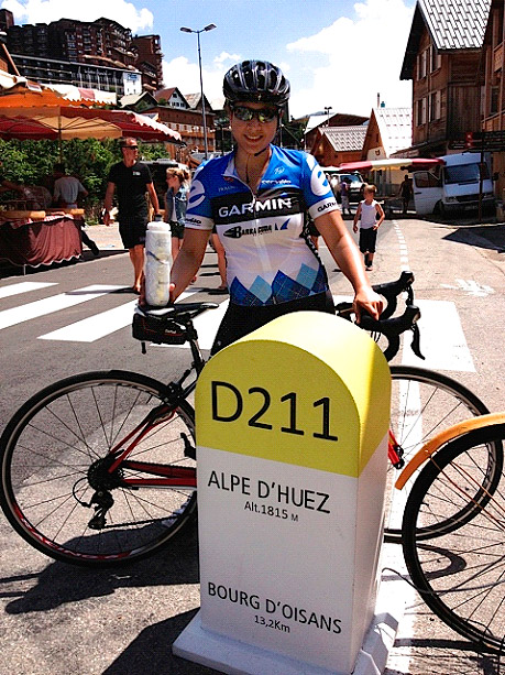 Tricia on the Alpe d'Huez