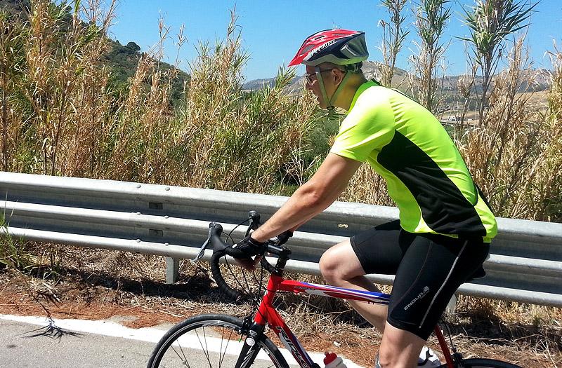 Dominic riding towards Segesta