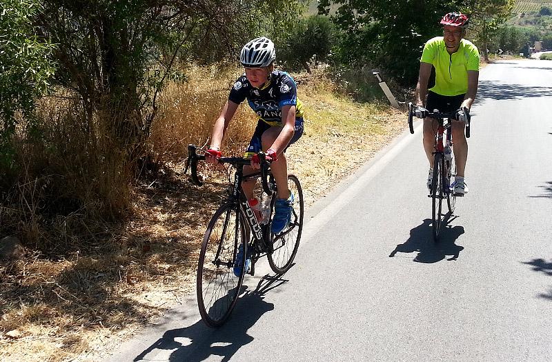 On the Segesta climb