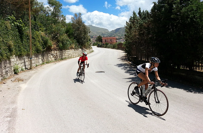 On the descent, near the town of Montelepre