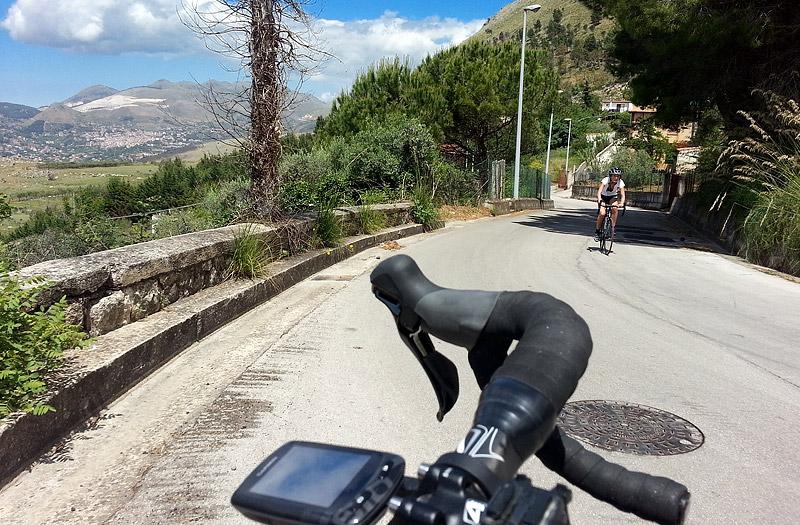 On the Romitello climb