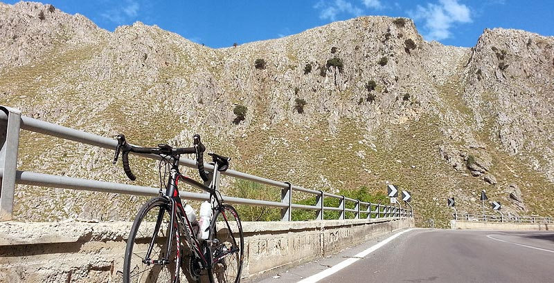 My Ridley Helium SL on a climb near Ponte di Sagana