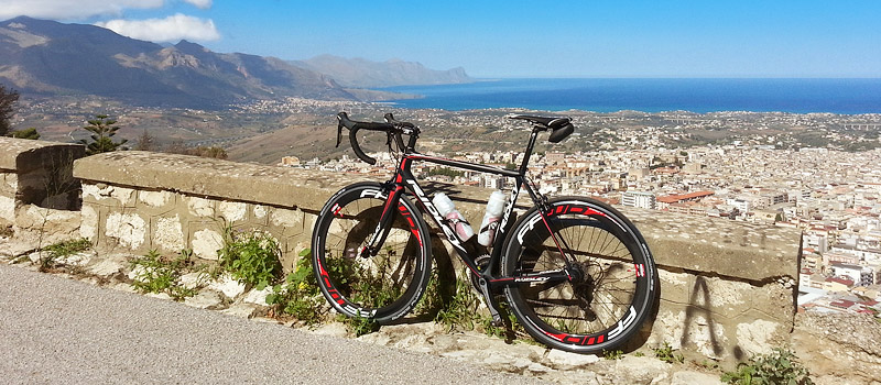 My Helium SL with the town ogf Alcamo and the Golfo di Castellammare in the background