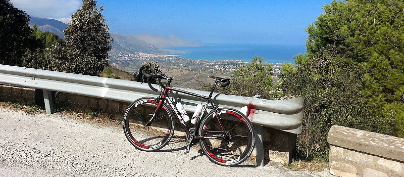 My Ridley Helium SL and part of the Golfo area in the background