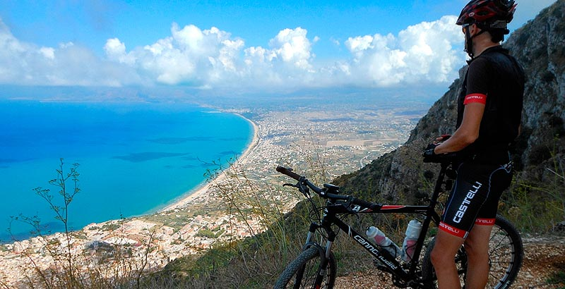 Enjoying the view on Monte Inici near Castellammare del Golfo