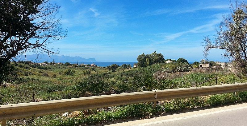Sea views near the town of Trappeto