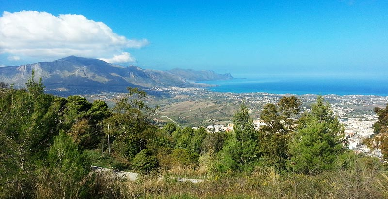 Great views from Monte Bonifato near the town of Alcamo