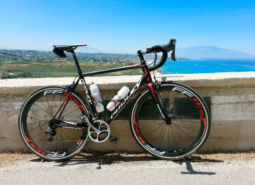 My Ridley Helium SL close to the town of Trappeto, Sicily