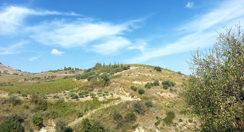 The hilly area between Scopello and Balata di Baida
