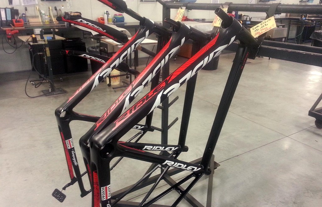 The Lotto Soudal bike frames