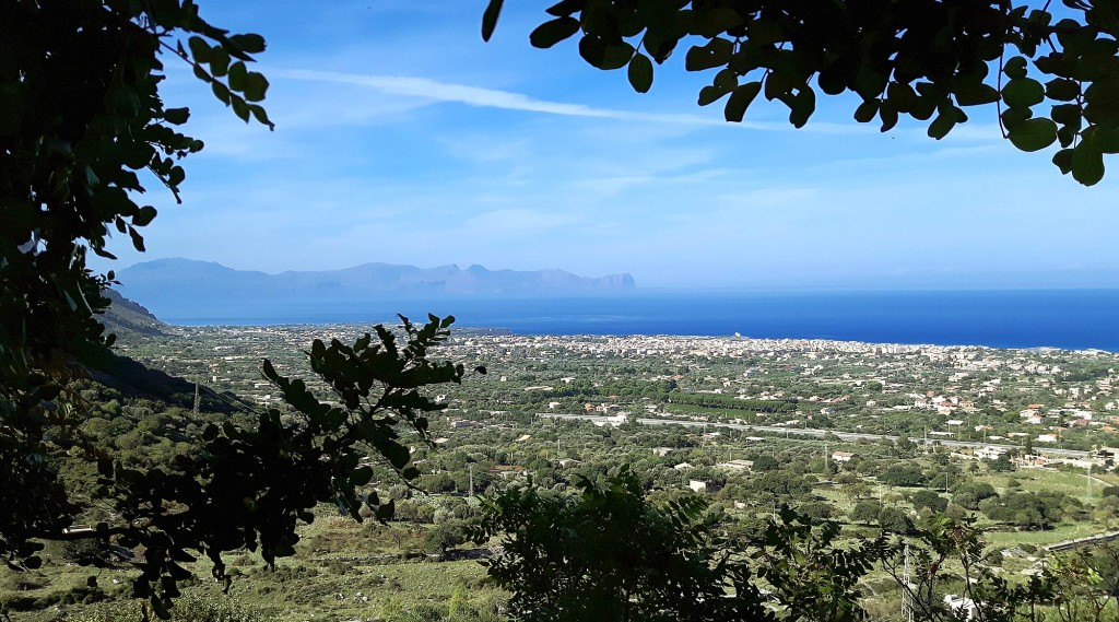 View of the Golf and the town of Terrasini