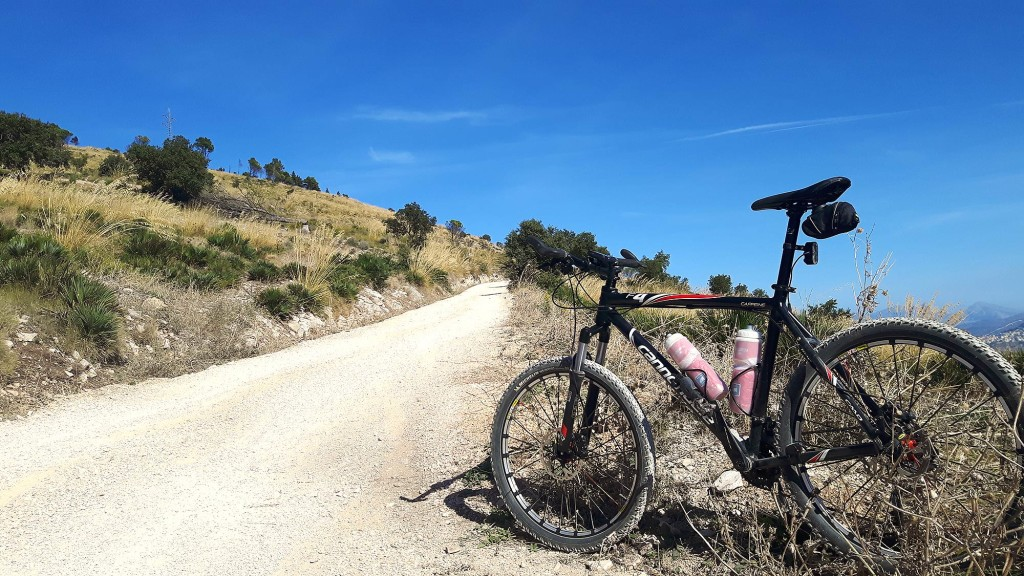 My Cannondale F4 on the Monte Inici climb