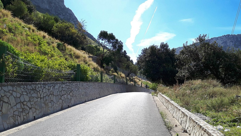 One of the steeper parts of the climb