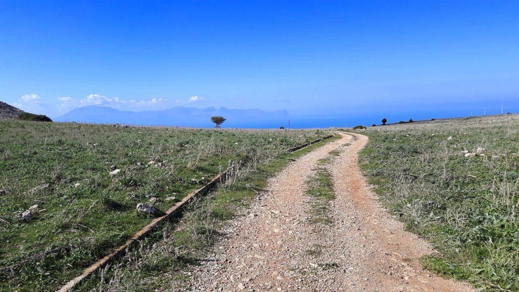 A view of the Golfo di Castellammare, 5 km into the climb