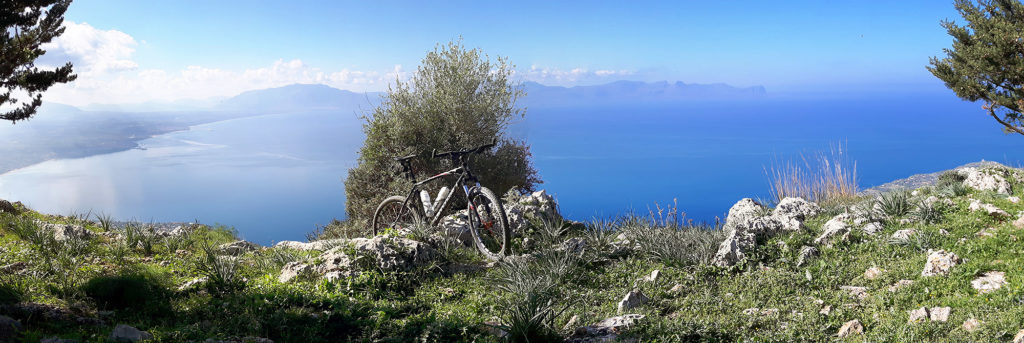 My Cannondale F4 with the gulf area in the background