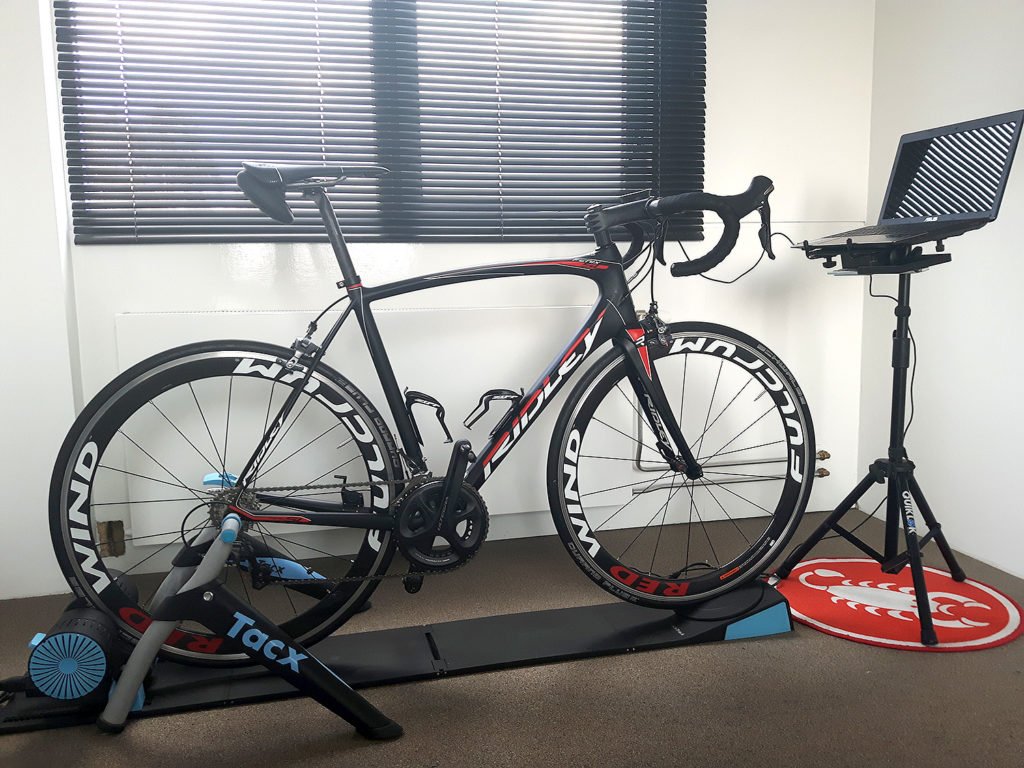 My indoor setup: my Ridley Fenix SL on the Tacx