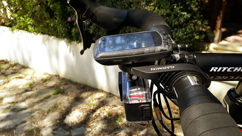 The Garmin Virb Ultra 30 on the Garmin combi mount