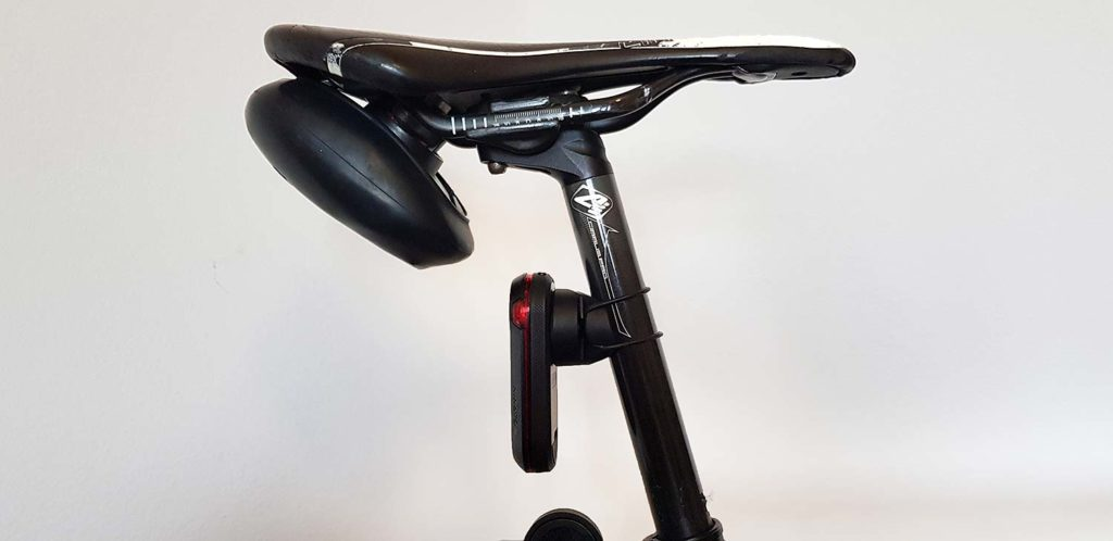 The RTL510 attached to the seatpost