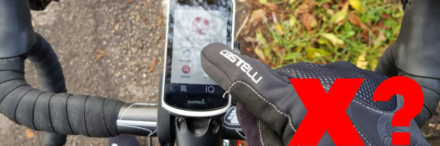 The Garmin Edge 1030 and thick winter gloves…